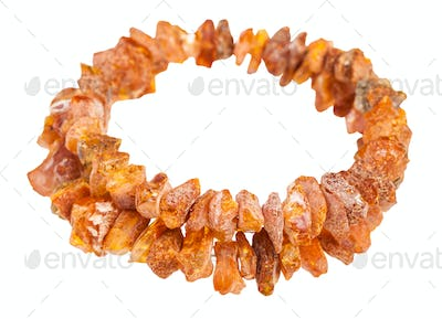 0592eb8bf023 bracelet from rough amber stones isolated