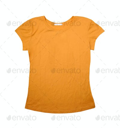 High Resolution T Shirt Template Yellow Stock Photos Royalty Free